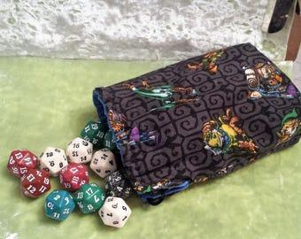 Large Zelda Dice Bag - Custom Inside Color