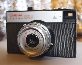 "Lomo Smena 8M 35mm Film Camera with case lomography, Vintage Russian Photo Camera ""Smena 8M"", Collectable Soviet Union Camera"