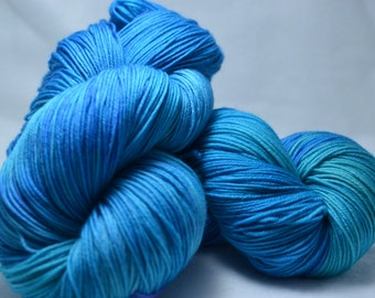 Hand Dyed Sock Yarn - Marine