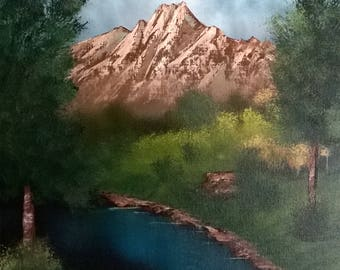 16x20 original mountain landscape oil painting