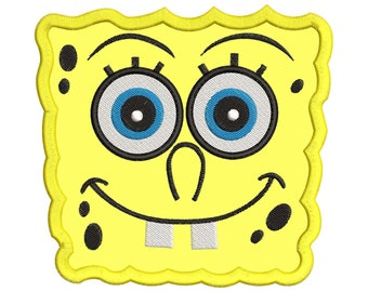 Spongebob Squarepants Applique Embroidery Design - Instant Download