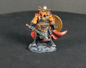 Hobgoblin captain, a hand painted metal mini for your tabletop dungeon and dragons adventure. A reaper bones dark heaven miniature.