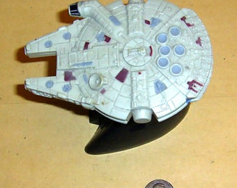 "Vintage 1996 Star Wars Millennium Falcon Action Figure c/w ""A New Hope"" Stand by Applause"