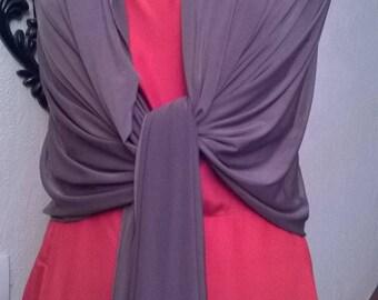 Brown wedding shawl