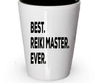 Reiki Master Shot Glass, Best Reiki Master Ever, Reiki Master gift, Gift for Reiki Master , Birthday Gift, Christmas Present