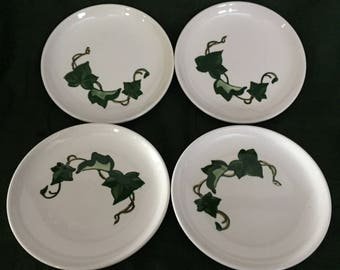 Set of 4 Poppytrail Ivy Metlox 4-81 Bread and Butter Plates - Made in Cali