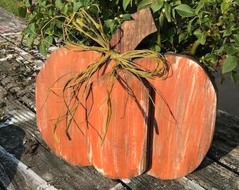 Rustic Pumpkin, Wood Pumpkin, Fall. Halloween, Thanksgiving