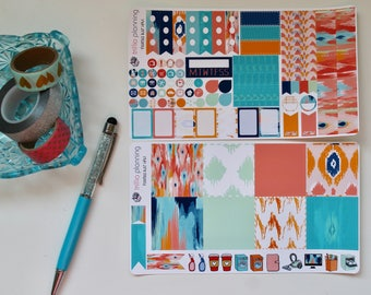 Painted Ikat - Mini Happy Planner Weekly Kit