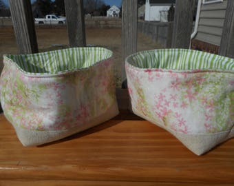 handmade fabric baskets for organization and storage (various designs)