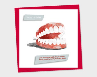 birthday card - Chattering teeth