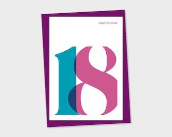 birthday card - 18th Birthday
