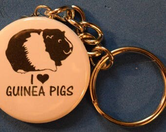 I love Guinea Pigs key Chain