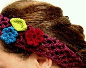 Handmade Crochet Hairband Vintage Style, an Everyday Boho Accessory