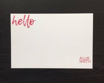 Hello! Custom Notecard