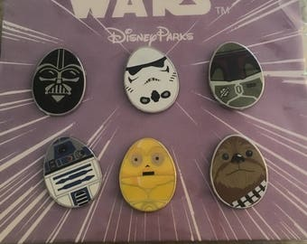Star Wars Mini Egg 6 Disney Parks Pin set