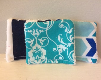 Reusable Makeup Remover Cloths (The Blues)