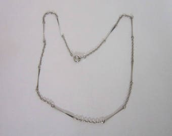 Vintage 17 inch Odd Link Chain Necklace Silver Tone