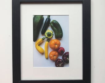 FOOD PHOTOGRAPHY PRINT - farmers market produce art - kitchen art - fine art print - red - orange - yellow - green