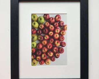 FOOD PHOTOGRAPHY PRINT - farmers market produce art - kitchen art - fine art print - apples