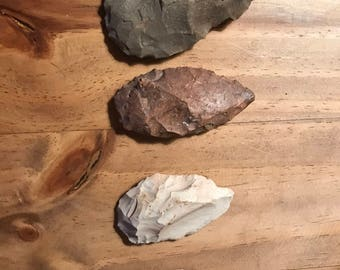 Ancient Native American Arrowheads- Large
