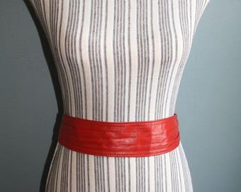 Rad Red Belt Buckles in Back