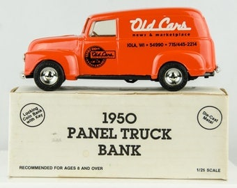 Ertl 1950 Panel Truck Diecast Bank 1/25 Scale 20th Anniversary Old Cars News