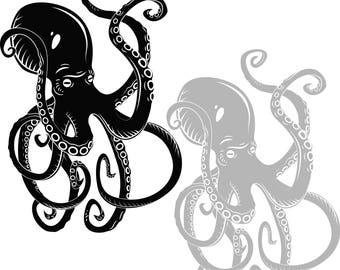 Octopus in svg, dxf, eps, jpg, Download files, Digital, graphical