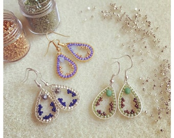 Little drop earrings made with beads