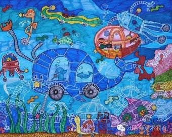 Artwork by Students • Colored Illustration • Ocean Piece