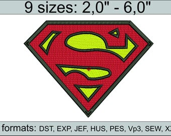 Superman embroidery design / embroidery designs / INSTANT download machine embroidery pattern