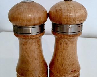 Salt and pepper set   Wooden salt and pepper