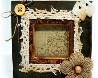 Small photo frame antique effect