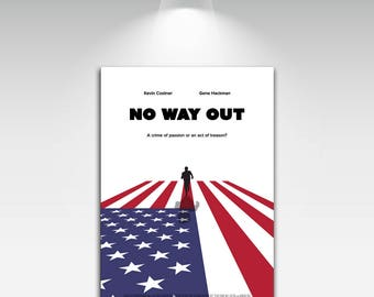 Movie Posters for No Way Out Art Print on Canvas Home Wall Decor