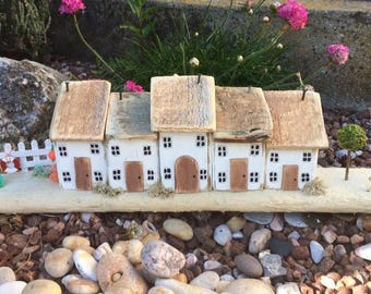 Cottages,House,Wooden,Driftwood,Handmade,Collectable