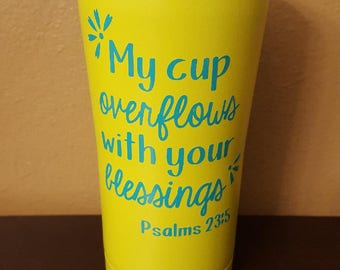 Psalms 23:5 Stainless Steel Tumbler