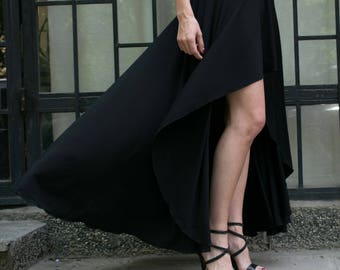 Woman black long Skirt. Black maxi long skirt. Long skirt for women. Floor length black skirt. Black evening skirt. Maxi evening skirt