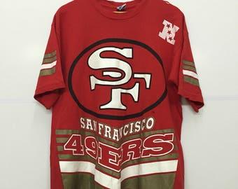 Rare!! Vintage 90's 49ERS San Francisco 1995 NFLP Big Logo Tee