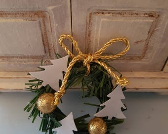 Miniature Christmas Wreath 1:12