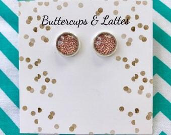 Leopard Print Stud Earrings 10mm