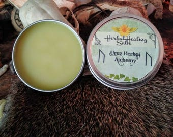 Herbal Healing Salve - All purpose, first aid ointment, skin balm. Natural and organic. Arnica, plantain, comfrey, calendula, etc.