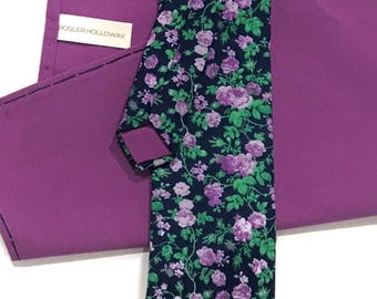Navy Garden Tie