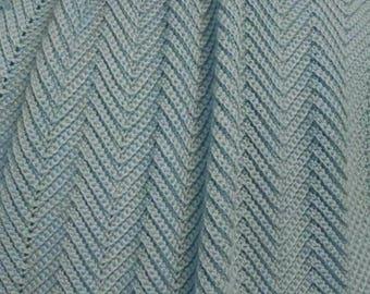 Zig Zag Pattern Baby Blanket