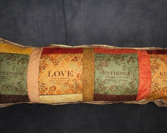 Faith quotes quilted bench pillow - #2