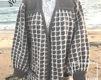 1980s Vintage Sweater Coat