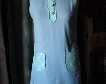 Baby doll dress 60's, vintage french dress. Dead stock.