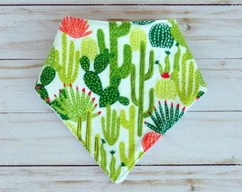 Baby Cactus Bandana Bib - Drool Bib - Dribble Bib - Cactus - Adjustable Bib - Baby Accessory - Baby Shower Gift