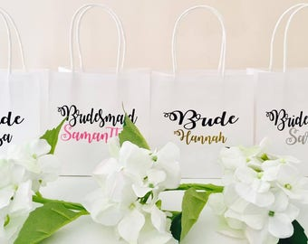 Personalised Bridal Party Gift Bags