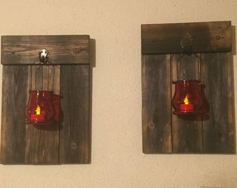 Wooded Candle Holders,Rustic Wall Sconce, Rustic Decor.Wall Art