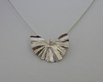 Ginkgo leaf pendant - large
