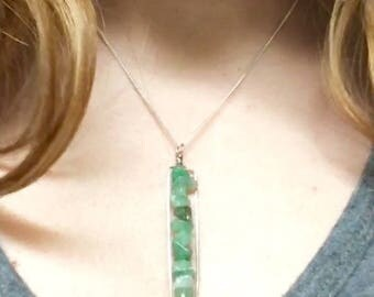Stacked Stone Necklace